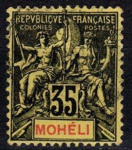 Moheli #9  F-VF Used CV $4.00  (X4077)