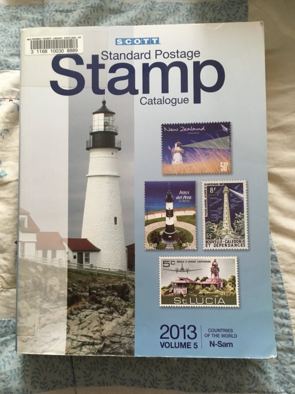 Scott 2013 Standard Postage Stamp Catalogue Vol 5 N - Sam Countries ExLibrary