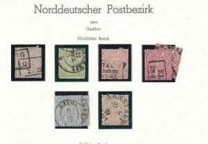 NORTH GERMAN CONFEDERATION 1869 USED STAMPS CAT £100+   REF R4161