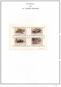 SCOTLAND - STAFFA - 1981 - Water Birds - Imperf 4v Sheet - MLH
