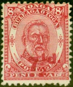 Tonga 1893 7 1/2d on 8d Carmine SG18 Fine Unused