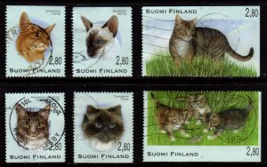 Finland - #972 - 977 Cats set/6 - Used