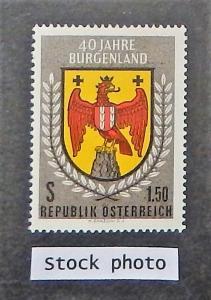 Austria 673. 1961 Arms of Burgenland, NH