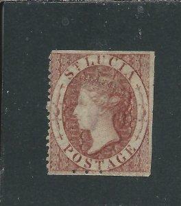 ST LUCIA 1863 (1d) ROSE-RED UNUSED SG 1 CAT £100