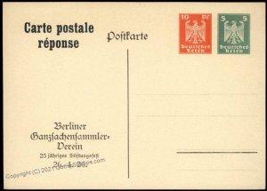 Germany BGSV Berlin Ganzsachen Clib Private Postal Card Cover G68550