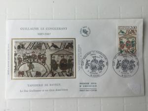 France Colorano silk FDC, 5 sept 1987, Guillaume le conquérant 1087-1987
