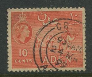 STAMP STATION PERTH Aden #49a - QEII Definitive Issue 1953-59  Used  CV$0.25.
