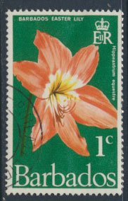 Barbados  SG 419 SC# 348 Easter Lily Flowers  1970  Used  see scan