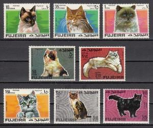 Fujeira, Mi cat. 206-213 A. Various Cats issue. *