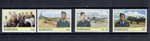 BARBADOS - 2008 - BARBADIANS AND AIRCRAFT - SCOTT 1139 TO 1142 - MNH