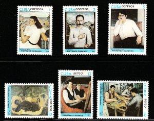 1977 Cuba Stamps  Paintings Jorge Arche Complete Set MNH