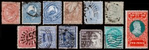 New South Wales Scott 52 // 102, Duty Stamp (1871-1914) Used H F-VF, CV $33.95 B