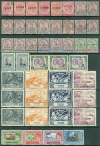 MALAYA : Johore. Nice Mint & Used grouping of singles & sets. Gibbons Cat £850+