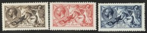 Great Britain Postage Stamps Catalog #173a-75b, Mint LH