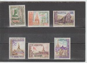 Laos  Scott#  60-65  MH  (1959 Historic Monuments)