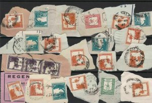 palestine used stamps cancelled on piece  ref r12526