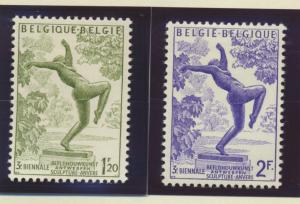 Belgium Stamps Scott #490 To 491, Mint Hinged - Free U.S. Shipping, Free Worl...