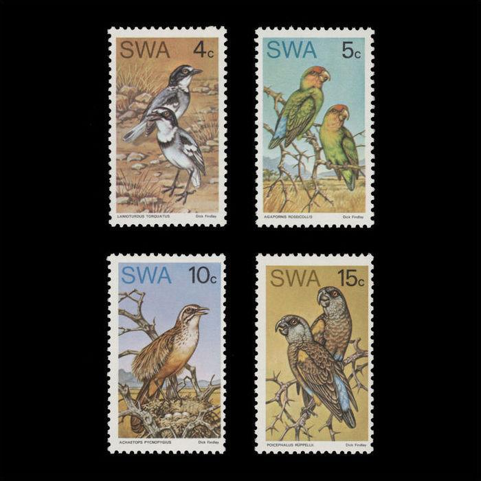 SOUTH WEST AFRICA 1974 (UNUSED) RARE BIRDS. MNH