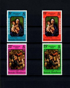 BRITISH HONDURAS - 1969 - CHRISTMAS - VIRGIN & CHILD - KINGS + MINT - MNH SET!