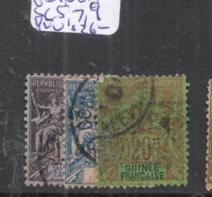 French Guinea SC 5, 7, 9 VFU (3dlf)