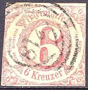 Thurn & Taxis #49  Used            Lakeshore Philatelics