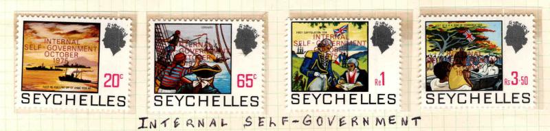 Seychelles Scott 327-330 MNH** Self Government set 1975