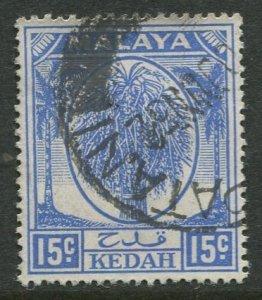 STAMP STATION PERTH Kedah #71 Sheaf of Rice Used Wmk 4 -1950-55