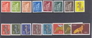 IRELAND 250-265 MINT HINGED 1968-1970 REGULAR SET
