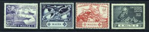 MALTA KG VI 1949 U.P.U. 75th. Anniversary Set SG 251 to SG 254 MINT