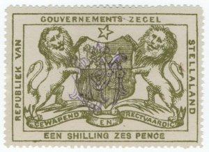 (I.B) Stellaland (Bechuanaland) Revenue : Duty Stamp 1/6d