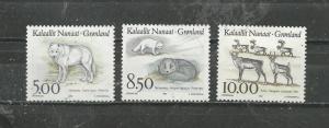 Greenland Scott catalogue # 262-264 Unused HR See Desc