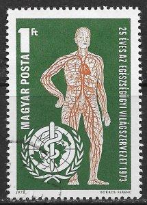 Hungary ~ Scott # 2219 ~ Used ~ World Health Organization ~ CTO