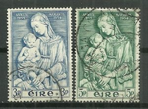 1954 Ireland 151-2 Madonna & Child C/S of 2 used