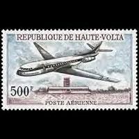 BURKINA FASO 1968 - Scott# C51 Plane Set of 1 NH
