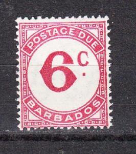 Barbados Scott J6 Mint hinged (Catalog Value $16.00)