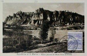 Monte Titano Veduta San Marino 1925 su Cartolina Vintage Old Postcard 13856