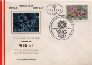 Austria, First Day Cover, Flowers