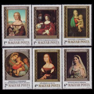 HUNGARY 1983 - Scott# 2785-90 Raphael Paintings 1-6fo NH