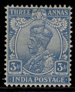 INDIA GVI SG209, 3a blue, M MINT. Cat £17.