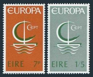 Ireland 216-217,lightly hinged.Michel 188-189.EUROPE CEPT-1966.Symbolic Sailboat