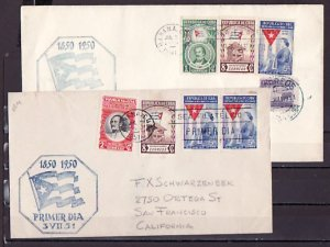 Cuba, Scott cat. 458-460, C41 only. Cent`ry of Cuban Flag. First day cover. ^