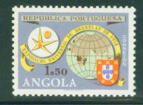 Angola  Scott 408 MNH** 1958 Brussels World's Fair s...