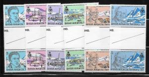 British Antarctic Territory 76-81 1980 Explorers set Gutter pairs MNH