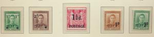New Zealand Stamp Scott #242-3, 273, 279, 285, Mint Overprints - Free U.S. Sh...