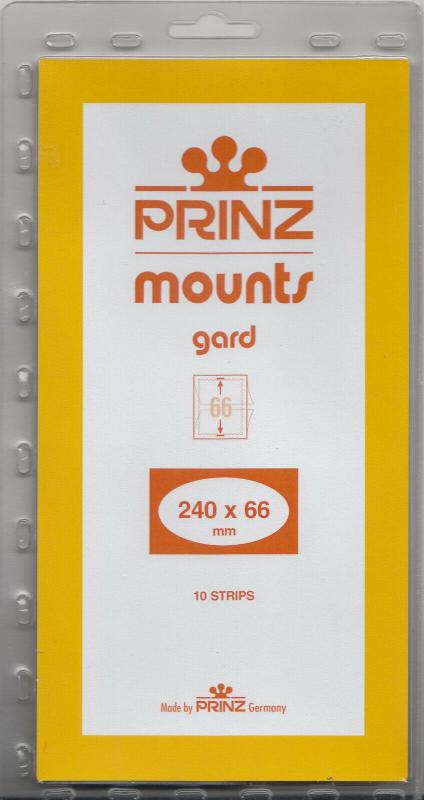 PRINZ CLEAR MOUNTS 240X66 (10) RETAIL PRICE $9.50
