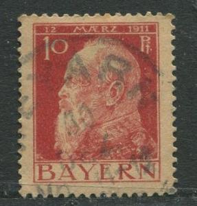 Bavaria -Scott 79 - Prince Regent Luitpold -1911 - Used -Single 10pf Stamp