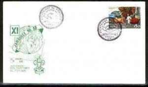Portugal 1968 commemorative cover for 11th Scout Jamboree...