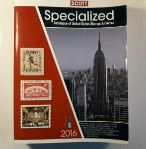 2016 United States Specialized Scott Catalog - Good Condition