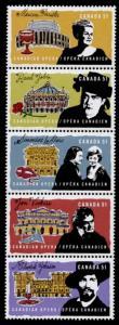 Canada 2182a Left Strip MNH Opera Stars, Opera Houses