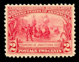 momen: US Stamps #329 Mint OG NH PF Cert